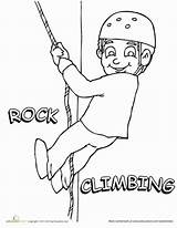 Climbing Coloring Rock Drawing Education Worksheet Pages Sports Worksheets Boys Rocks Child Grade Sport Teaching sketch template