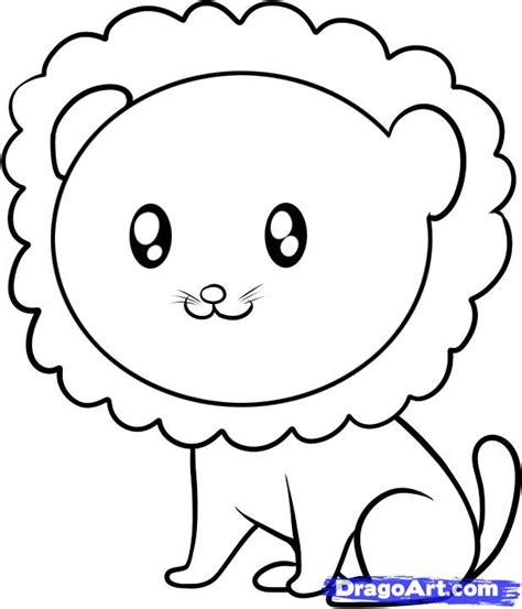 draw  lion  kids step  step animals