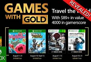 Xbox One Games With Gold August 2017 FOUR Free Xbox