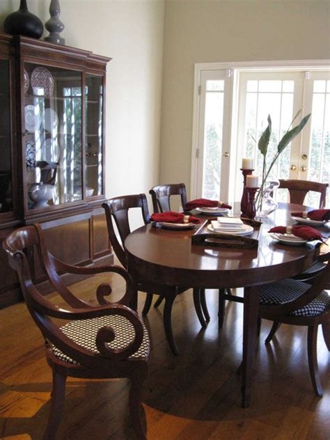 regency british colonial dining room traditional