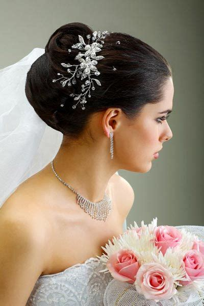 chignon mit schleier frisuren wedding hairstyles