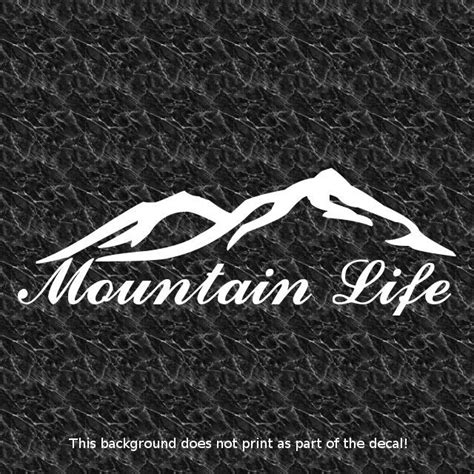 mountain jeep decals details about mtn life mountain decal rough terrain