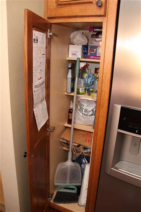 kitchen cabinet broom closet broom closet custom cabinetry building and installation 5169