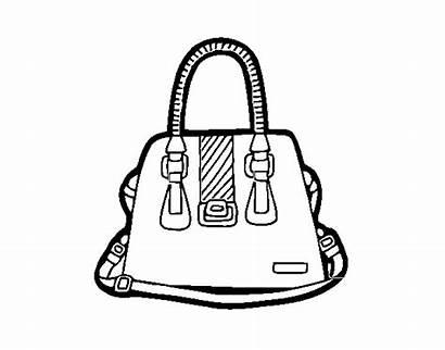 Handbag Coloring Handles Colorear Coloringcrew