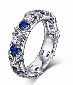 Designer 1 Carat Alternating Diamond And Sapphire Wedding