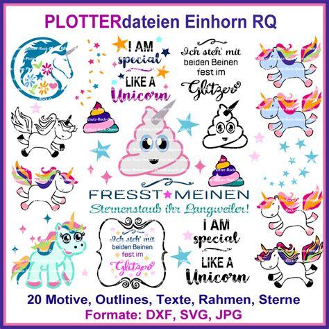 plotterdatei einhorn rq cutting set rock queen