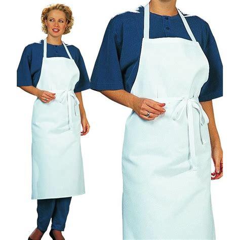 tablier femme cuisine tablier cuisine à bavette restaurant bistro blanc coton