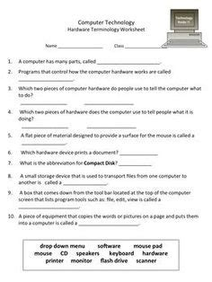 worksheets images worksheets computer class