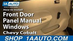 How To Install Remove Front Door Panel Manual Windows