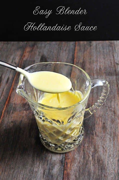 easy blender hollandaise sauce recipe cooking add  pinch