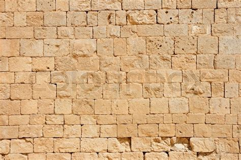 ancient stone wall texture stock image colourbox