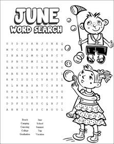 13 cool printable summer word searches baby