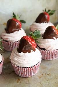 Chocolate Covered Strawberry Cupcakes - Heather Christo