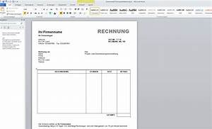 Einfache Rechnung Schreiben : rechnungsvorlage word kostenlos herunterladen reiseziele ~ Themetempest.com Abrechnung