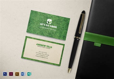 landscaping business card template  psd word publisher