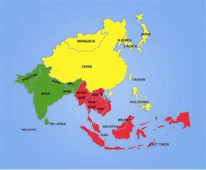 Asia Map Asian Looking Insights Fundraising Towards