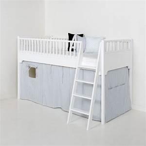 Hochbett Weiss Halbhoch : oliver furniture hochbett f r kinder halbhohes hochbett ~ Indierocktalk.com Haus und Dekorationen