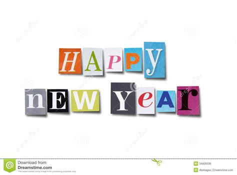 happy  year stock photo image   letters