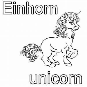 Einhorn Bilder Kostenlos : kostenlose malvorlage englisch lernen einhorn unicorn zum ausmalen ~ Buech-reservation.com Haus und Dekorationen