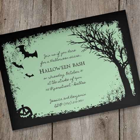 halloween invitation template spooky woods