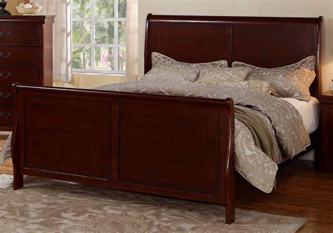 master bedroom curved headboard footboard cherry wood