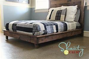 King Size Bed Frame Plans BED PLANS DIY & BLUEPRINTS