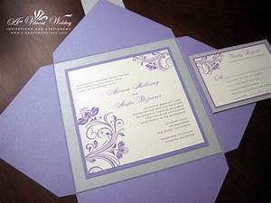 Purple and Silver Wedding Invitation – A Vibrant Wedding