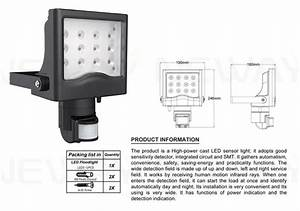 W pir infrared movement sensor led floodlight watts