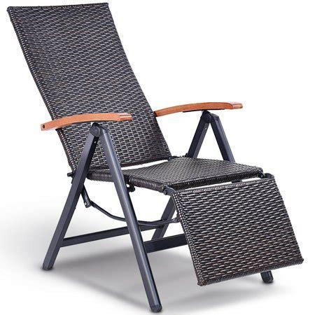 aluminum rattan lounge chair recliner patio garden