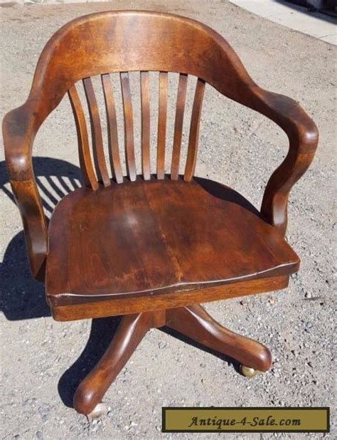 antique wood bankers chair antique solid oak wood swivel chair bankers barrel office
