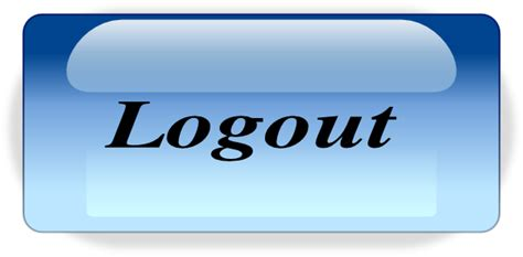 Aqua Logout Clip Art At Clker.com