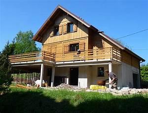 Ossature Bois Maison : maison ossature bois bardage pic a nos maisons ~ Melissatoandfro.com Idées de Décoration