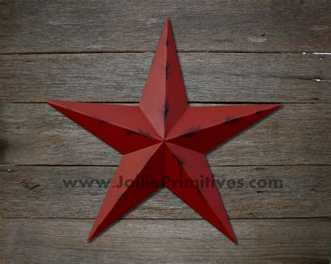 72 Inch Rustic Painted Metal Stars, Heavy Duty, Galvanized