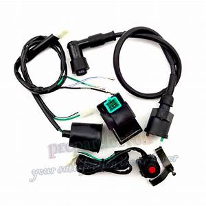 Ac Cdi Wiring Harness Kill Switch Ignition Coil For Ssr