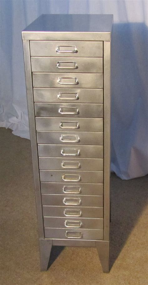 20th Century Steel 15 Drawer Filing Cabinet   Antiques Atlas
