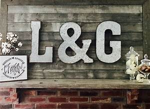 flash sale large metal letter big letter wall letters With rustic letters for sale