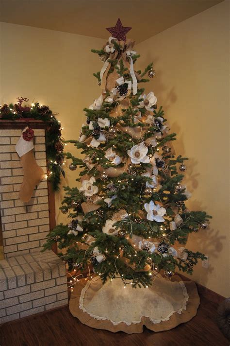 decorating for christmas with burlap in full bloom floral design elegant french burlap christmas decor