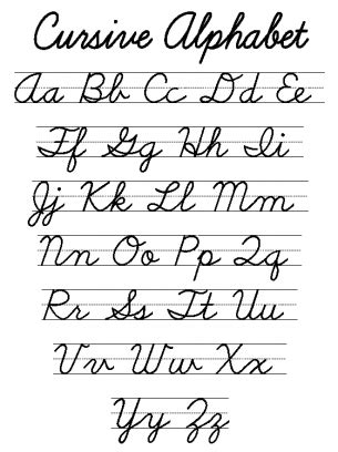 Printable Dnealian Cursive Alphabet  Printable 360 Degree