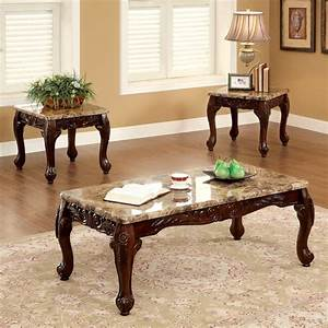 dark cherry 3 piece table set coffee end tables marble With coffee table end table sofa table set