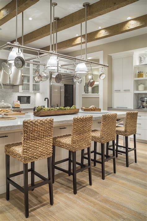 Seagrass Barstools   Transitional   Kitchen   Benjamin