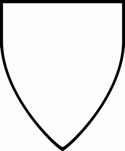 Shield Outline Crest Clipart Template Templates Printable
