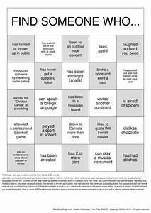 get to know you getting to know you bingo cards to With ice breaker bingo template