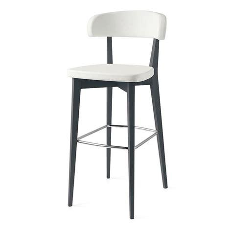 chaise de bar confortable tabouret de bar confortable blanc pieds gris sur cdc design