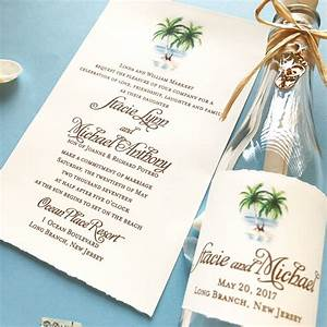 Stacie beach wedding invitation in a bottle custom for Beach wedding invitations michaels