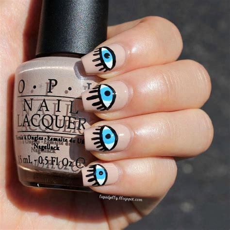 alexa chungs evil eye nail art   paint  themed