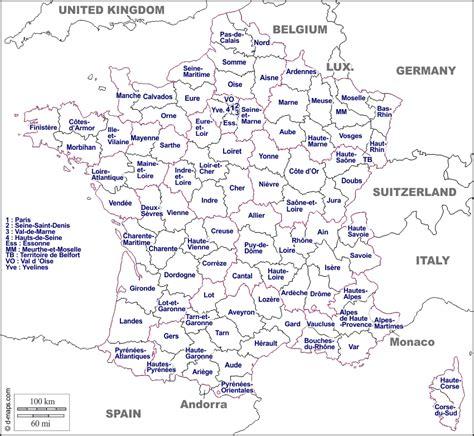 Carte De Département Et Région Vierge by Carte Vierge Des D 233 Partements Voyages Cartes