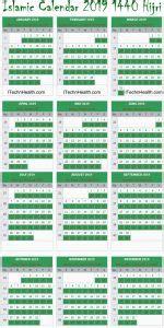 calendar hijri islamic calendar important