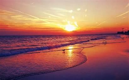 Sunset Beach Desktop Wallpapers Background Cool Widescreen