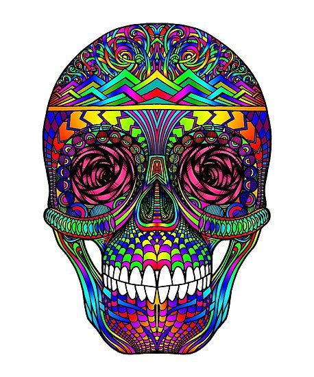 colorful sugar skull quot colorful sugar skull w quot posters by