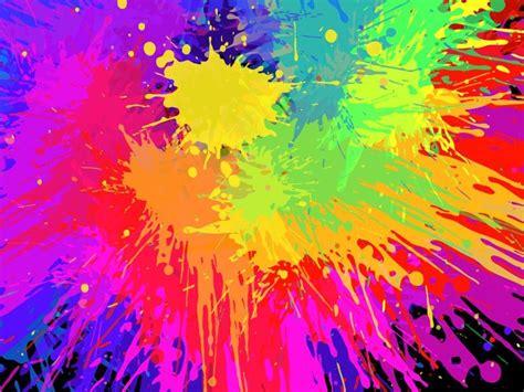 paint colorful bright colorful colorful paint splats vector